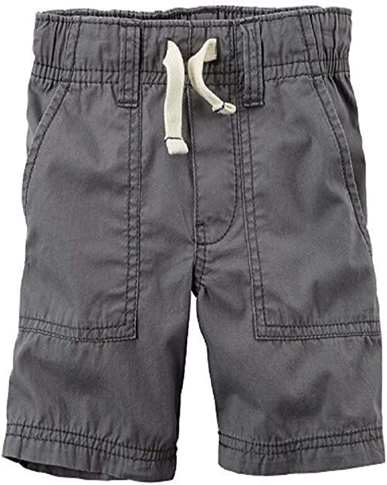 12 Months Grey Carters Baby Boys Pull-On Poplin Shorts