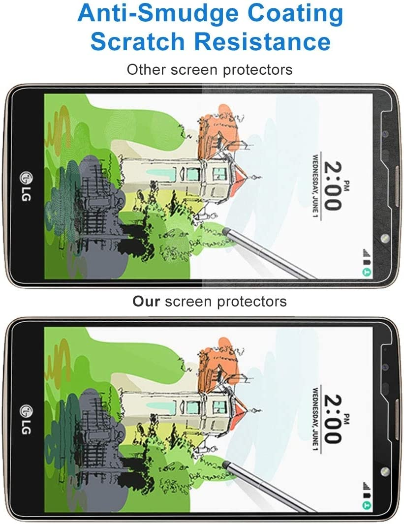 Wangl Mobile Phone Tempered Glass Film 100 PCS 9H 2.5D Tempered Glass Film for LG Stylus 2 Plus Tempered Glass Film