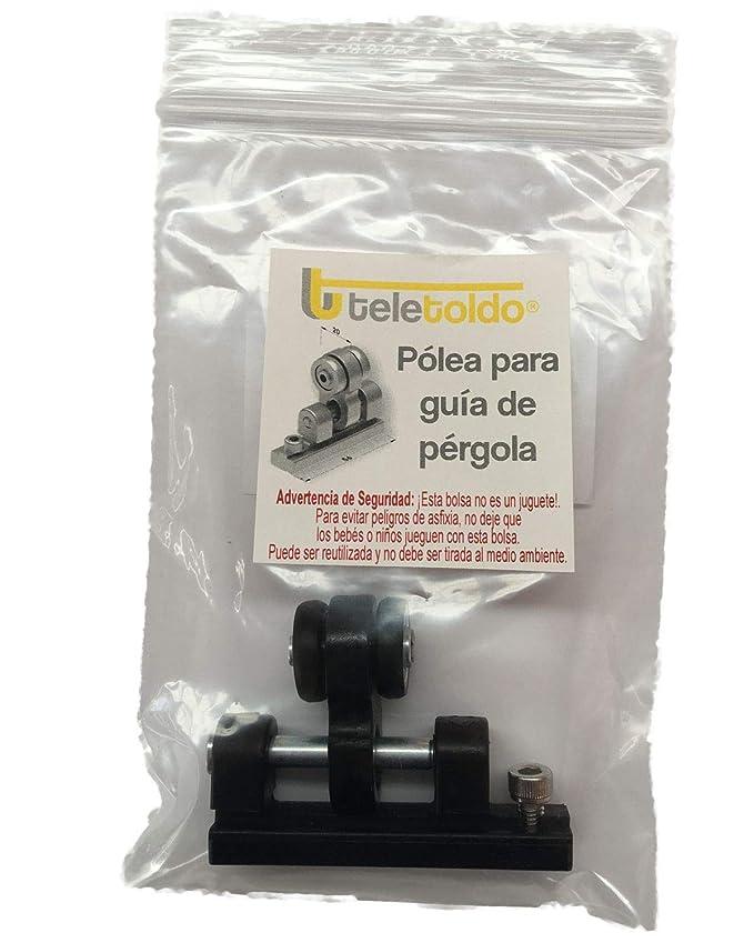 Teletoldo Polea para guía de pérgola (Repuesto) (Blanco): Amazon.es: Jardín