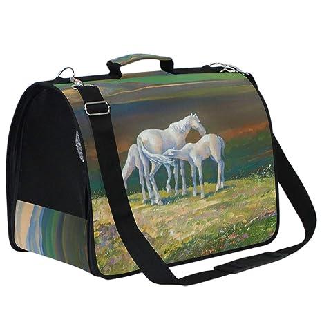 AMONKA Oil Painitng - Bolsa de Transporte para Mascotas de montaña ...