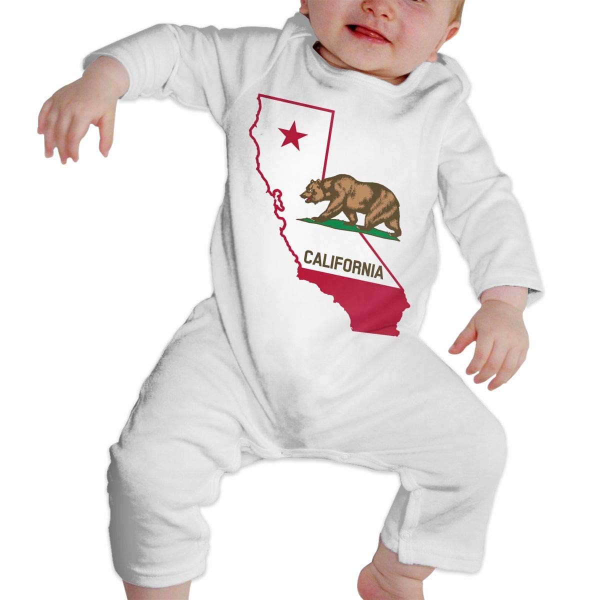 Coat of Arms of Ontario Unisex Long Sleeve Baby Gown Baby Bodysuit Unionsuit Footed Pajamas Romper Jumpsuit