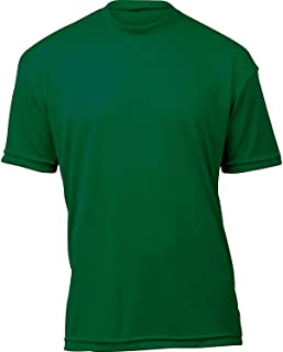 product image for WSI Microtech Loose Short Sleeve Shirt, Forest Green, Youth Large