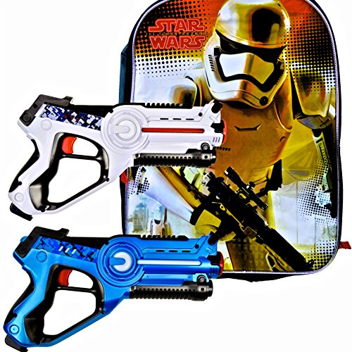 Boys Star Wars Birthday Party Set with StormTrooper Backpack Plus Boys Toys Laser Tag Blasters - 2 Pack (Lego Star Wars Newest)