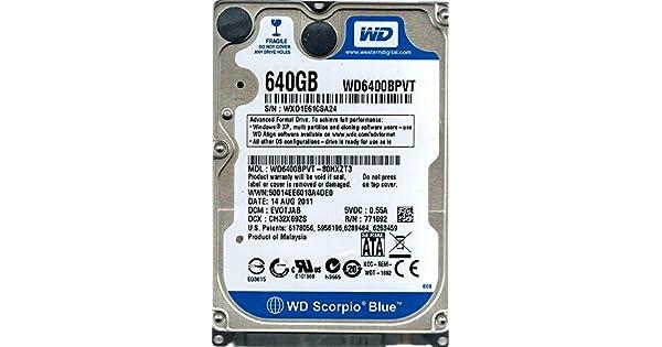 Amazon.com: Western Digital WD6400BPVT-80HXZT3 640GB DCM ...
