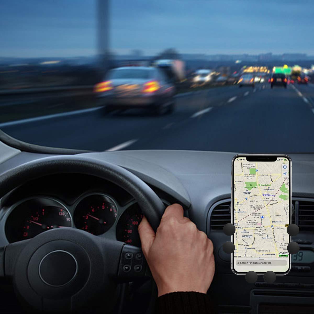 Universal Auto Air Vent Grip Gravity Car Phone Holder 2019 Nuovo Auto-Grip Car Phone Mount Supporto Automatico Telescopico gravit/à Staffa Air Vent Mount (CD-07