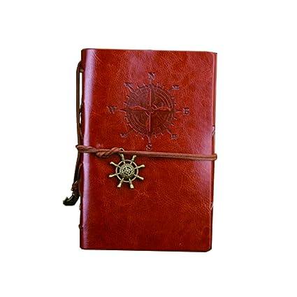 Hosaire 1X Cuaderno Ubierta de Cuero de la PU Cuaderno ...