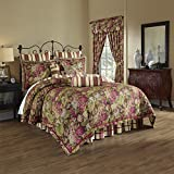 Waverly 4 Piece Floral Flourish Cordial Bedding Collection, King, Multi