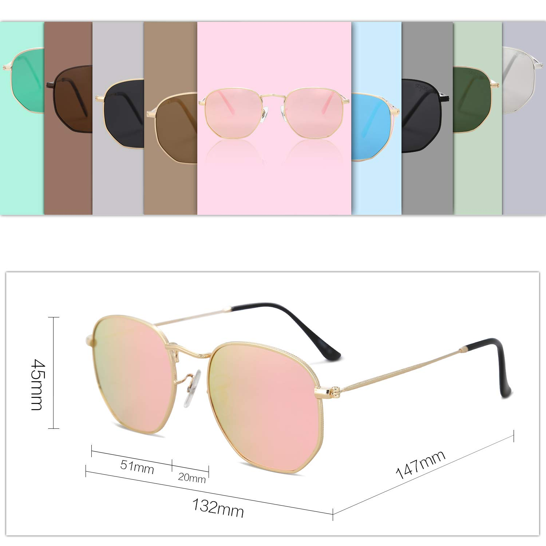 010e10194a SOJOS Small Square Polarized Sunglasses for Men and Women Polygon Mirrored  Lens SJ1072 SJ1077 SJ1072C1
