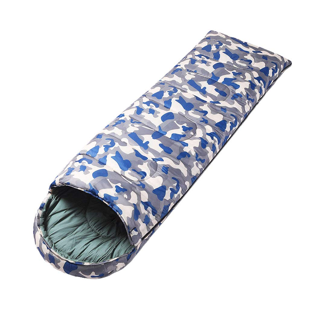 B 1.1kg DGB Camouflage Warm Cotton Outdoor Camping Adult Ultra Light Splicing Envelope Sleeping Bag