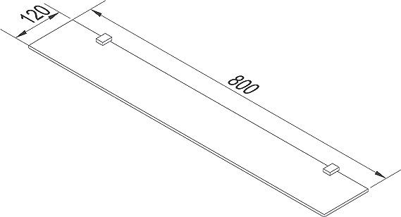 Glasregal mit 8mm ESG Sicherheitsglas Verschiedene Gr/ö/ßen w/ählbar Glasregal perfekt als Badablage Glasablage f/ür Badezimmer Rapid Teck Glas Wandregal Michglas Wei/ß Matt 70cm x 10cm
