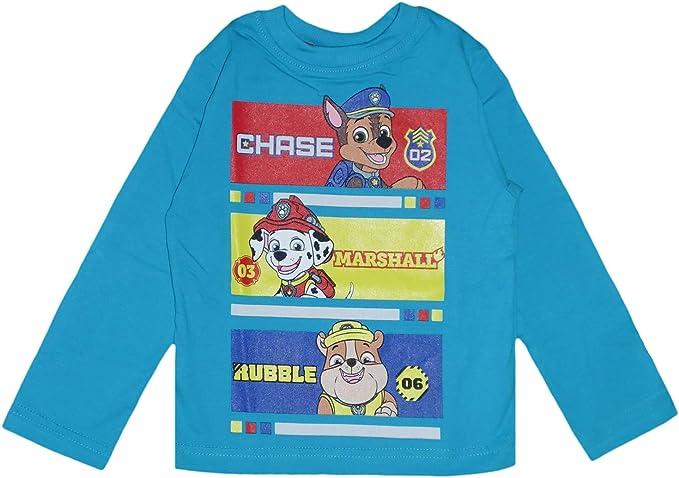 Paw Patrol Kids Camiseta de manga larga de algodón: Amazon.es: Ropa y accesorios
