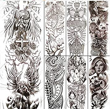 Angel Girl Pegatinas para tatuajes temporales para hombres ...