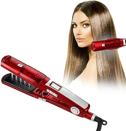 plancha para el cabello wangZJ/vaporizador en spray cabello liso/rizador de cabello de doble propósito de volumen recto/no daña la férula para alisar el poder/enchufe estándar europeo: Amazon.es: Belleza