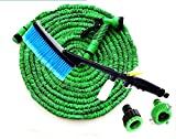 ZLJTYN Multifunctional Household Water Gun Combination Suit Self-Service High Pressure Car Connector And Hose Hose Complete Car Wash Tool,15 Meters