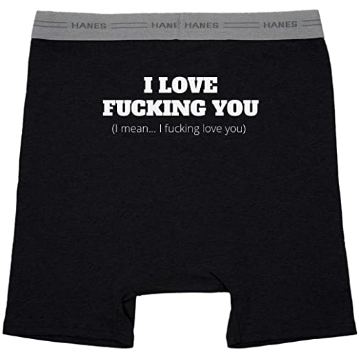 b31398e20bd3 Amazon.com: Love You Bunches: Hanes Black Boxer Brief Underwear: Clothing