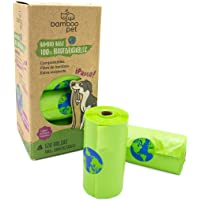 Bamboo Pet. Bolsas para Popo de Perro, Biodegradables y Compostables. Paquete de 120 Bolsas Bamboo Bags para Recoger…