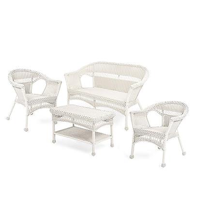 Incredible Amazon Com Plow Hearth Easy Care Resin Wicker Outdoor Machost Co Dining Chair Design Ideas Machostcouk
