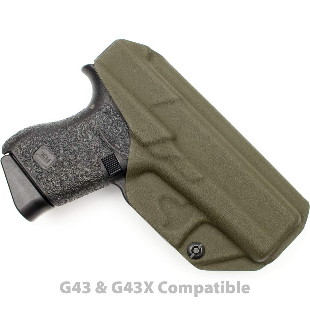 Tulster Glock 43/43X Holster IWB Profile Holster (OD Green - Left Hand) by Tulster (Image #2)