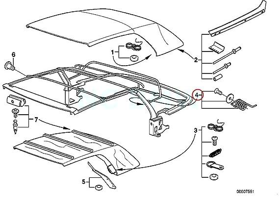 amazon bmw genuine repair kit f corner bow tension spring 2000 BMW 740iL amazon bmw genuine repair kit f corner bow tension spring automotive