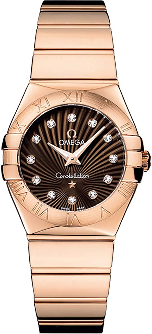 Omega Constellation Brown & Diamond Dial Women's Luxury Watch 123.50.27.60.63.002