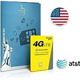 Prepaid Sim-Karte USA AT&T Netz - 4GB 4G LTE - Unbegrenzte internationale Anrufe und Sms - 30 Tage
