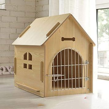 Lonshi Gato Mascota Perro casa de Madera Gato casa Perrera ...