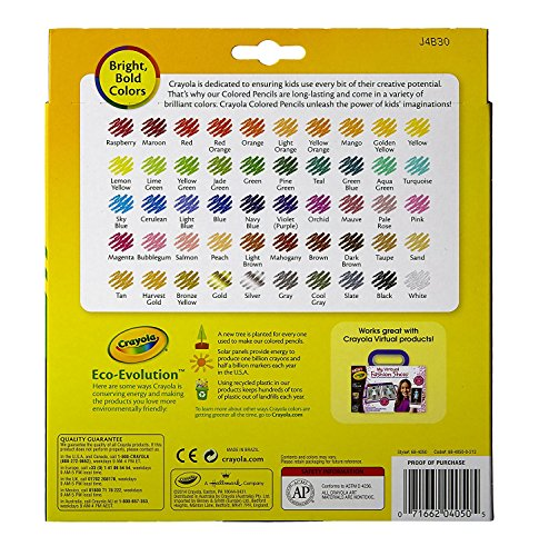 Crayola Colored Pencils, 50 Count, Adult Coloring