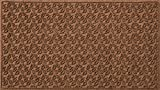 Bungalow Flooring Waterhog Doormat, 3' x 5', Skid Resistant, Easy to Clean, Catches Water and Debris, Dogwood Leaf Collection, Dark Brown