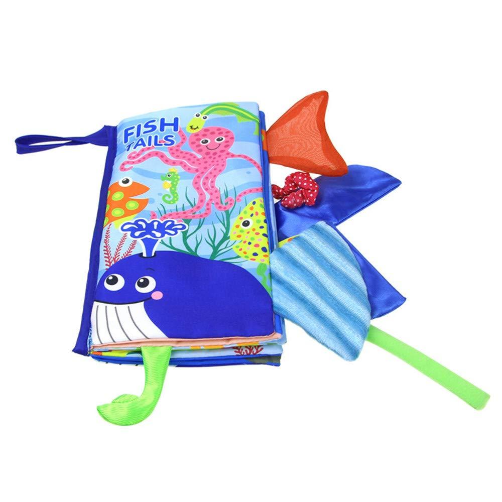 Yliquor ジャンボスクイッシー ソフトクロス 本 オーシャン アニマル ジャングル テール 幼児 教育玩具 B07H69582W