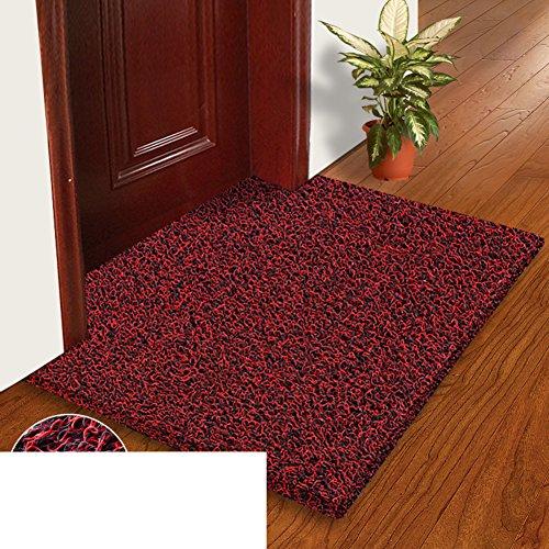 (Wire enclosure pad door door door door mat plastic mats in the Hall bathroom living room floor mats non-slip mats custom-B 40x60cm(16x24inch))
