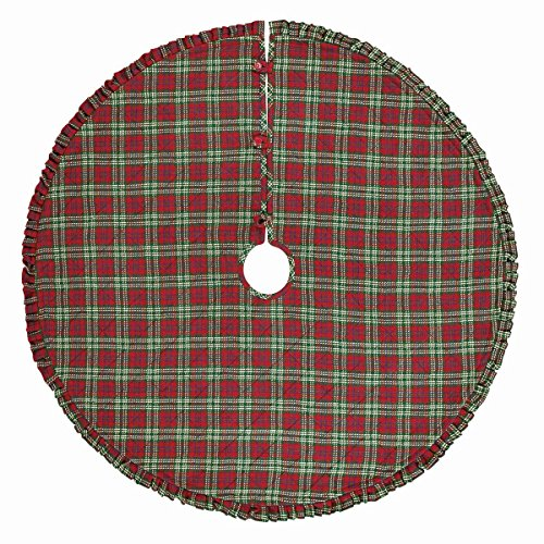 Connor Cotton and Felt Red Plaid Double Sided Christmas T...
