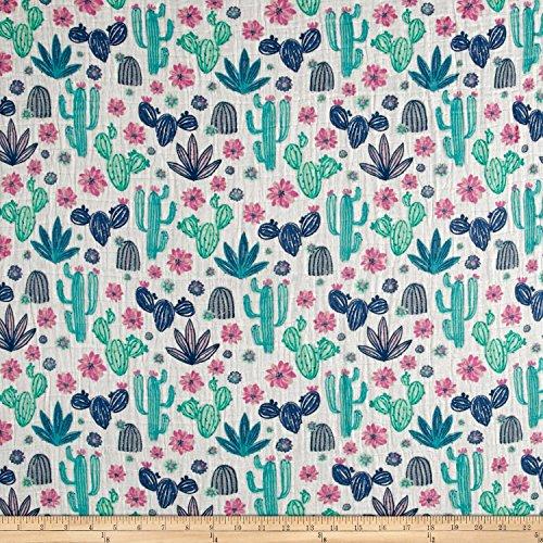 Shannon Fabrics Embrace Double Gauze Midnight Cactus Dusk Yard