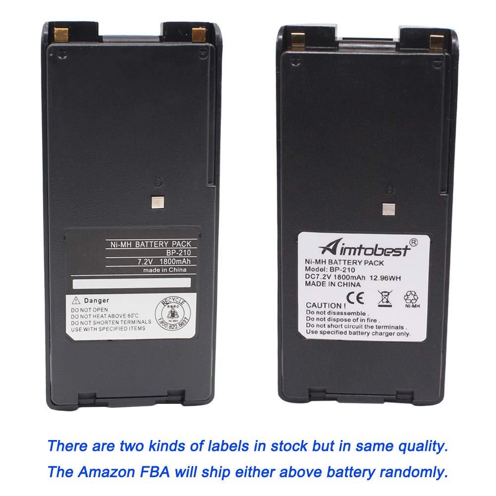 ICOM BATTERY FOR BP-210 BP-222 BP-210N BP-209N BP-222N 1800mAh
