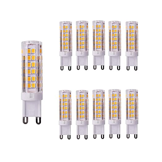 Bombillas LED G9 7W, OUGEER 70W Equivalente de Luz Halógena, Lámparas LED Blancas Cálidas