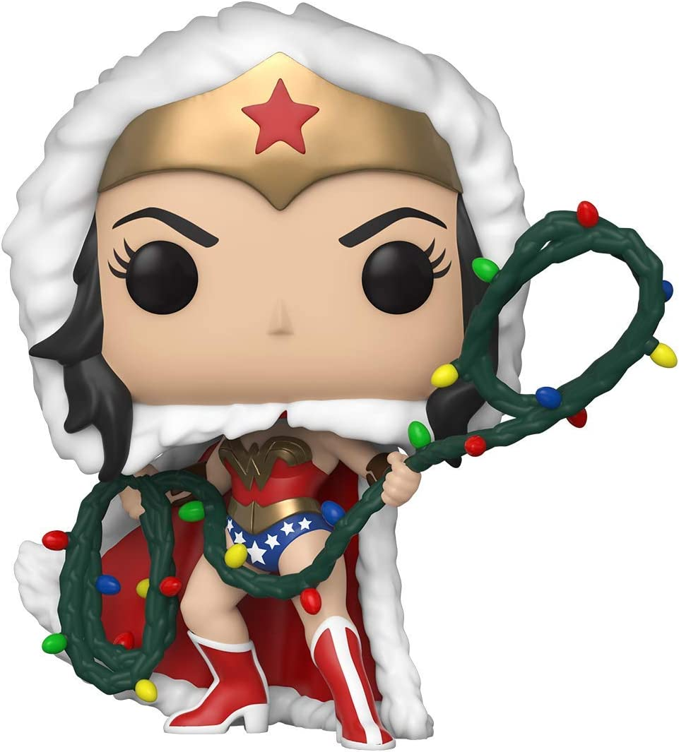 Pop Heroes DC Holiday-Wonder Woman w//Lights Lasso Comics S1 WW Figurine de Collection Funko Multicoleur 50652