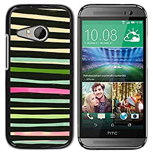 For HTC ONE MINI 2 / M8 MINI , S-type® Watercolor Abstract Green Black - Arte & diseño plástico duro Fundas Cover Cubre Hard Case Cover
