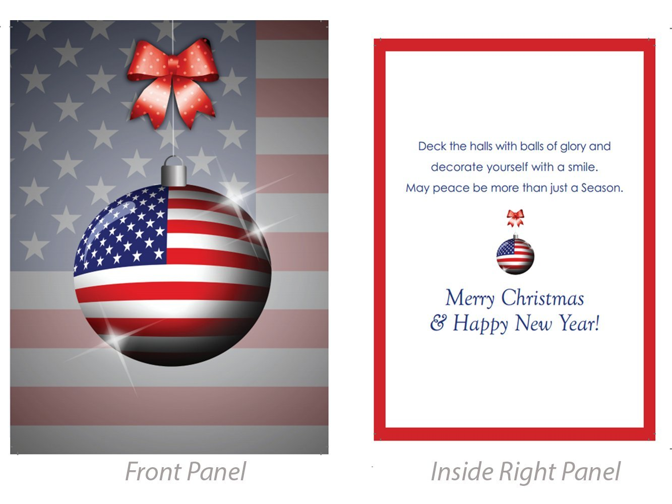 Amazon.com : Veterans or Military Christmas or Holiday Greeting ...