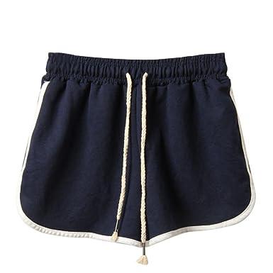 seleccione original comprar nuevo estilo popular Pantalones Cortos Mujer Verano,Pantalones cortos de deporte de verano de  moda de mujer Pantalones cortos de playa LMMVP