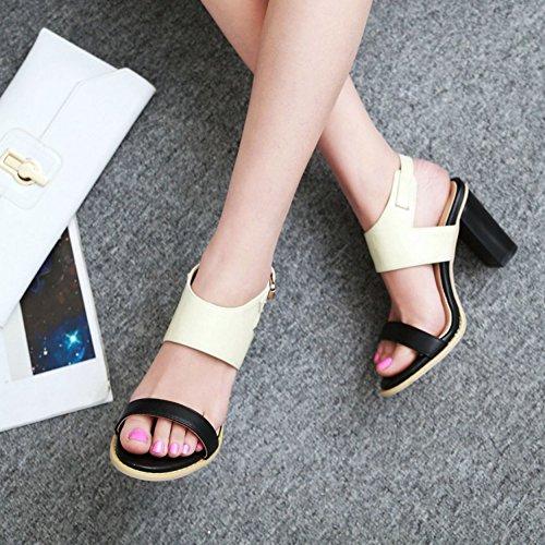 SK Studio - Zapatos con tacón Mujer Beige