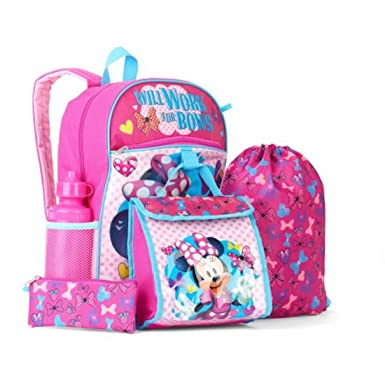 953d4aaa2ef Disney Minnie Mouse 5 Piece Kids School Set - Backpack