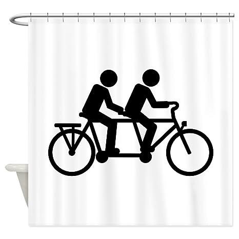 Amazon CafePress Tandem Bicycle Bike Shower Curtain Decorative