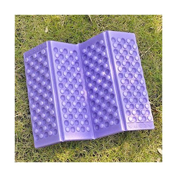 Omeny Outdoor schiuma giardino di campeggio pieghevole sedile impermeabile cuscino per sedia cuscino (viola) 4 spesavip
