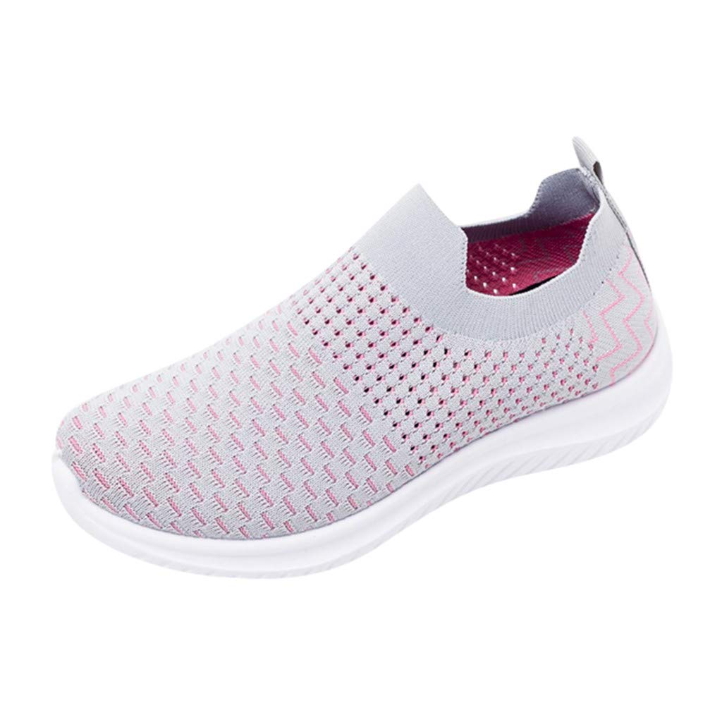 Moonker Womens Athletic Walking Sock Shoes Ladies Girls Fashion Lightweight Casual Mesh-Comfortable Work Sneakers