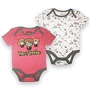 Happy Thread Baby Boys Newborn Infant 2 Pack Bodysuit Onesie Red and White 0-3 Months