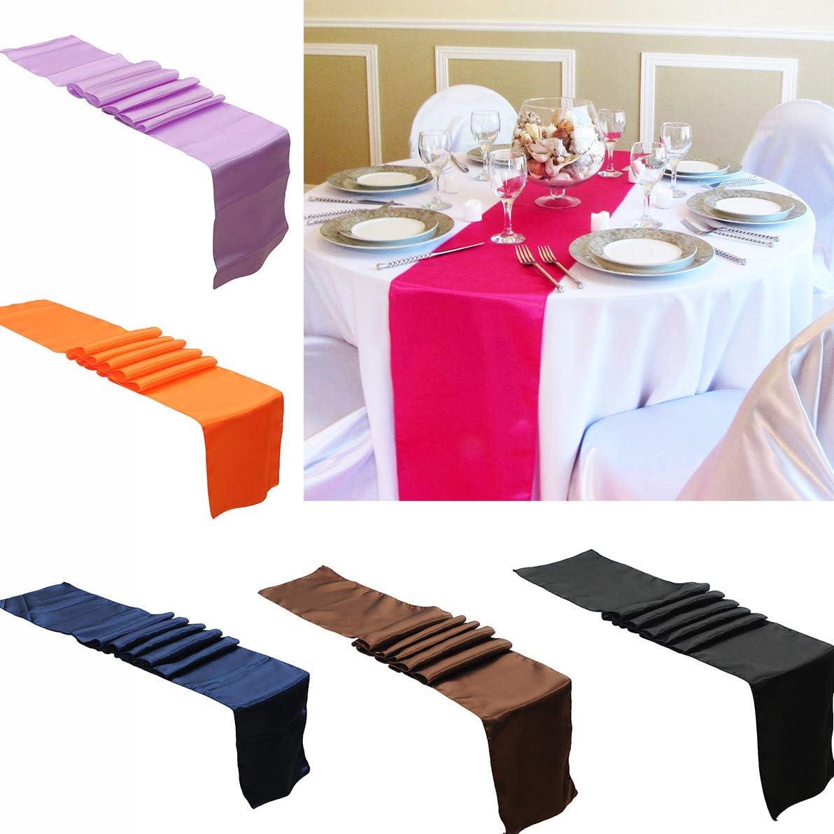 Lavabile Runner da tavola in Tinta Unita Banchetti Compleanni Baby Shower Coffee Decorazione per Matrimoni FiedFikt Sadin ricevimenti