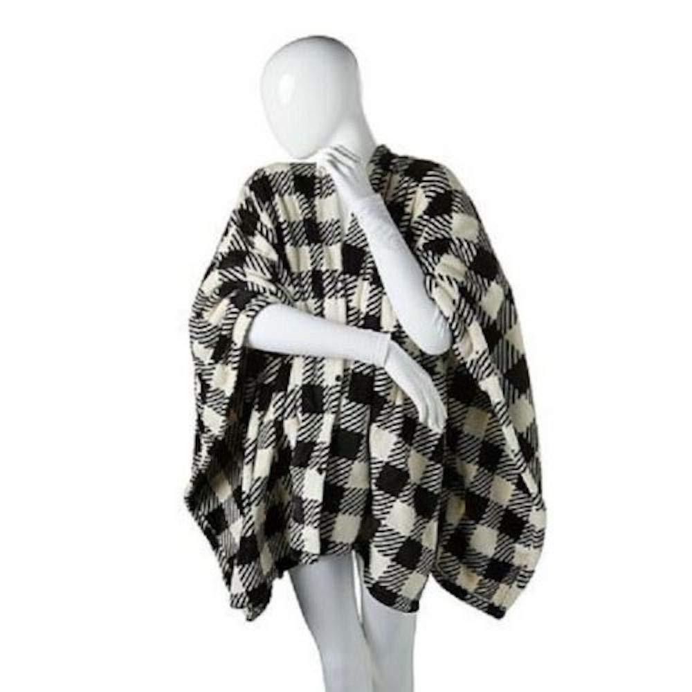 Soft & Cozy Heated Angel Wrap-Buffalo Check Ivory by Cozy Soft