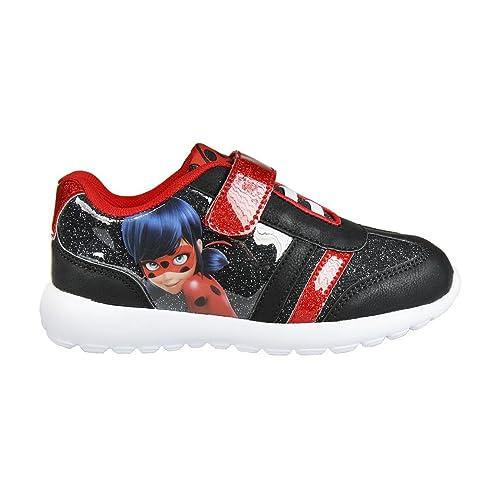 Cerdá Deportivas Ultraligeras Ladybug, Zapatillas Niñas, Black (Negro), 30 EU