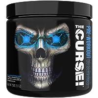 JNX Sports The Curse! Pre Workout Supplement - Intense Energy & Focus, Instant Strength Gains, Enhanced Blood Flow - Nitric Oxide Booster with Creatine & Caffeine - Men & Women | Blue Raspberry | 50 Srv