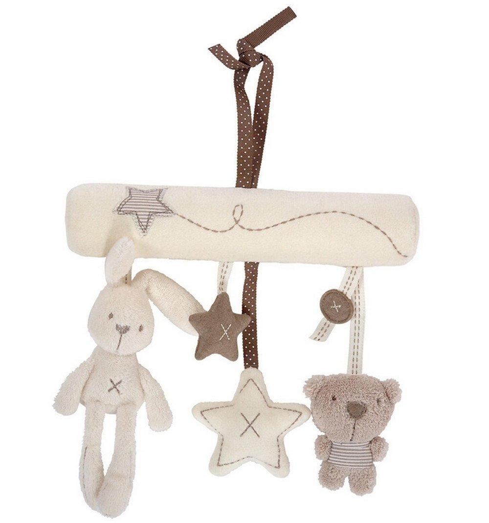 SupplyEU Hängenden Baby Rasseln Baby Plüschtiere mit Musik für Kinderbett und Kinderwagen, Beschwichtigen Schlaf Spielzeug süße Kanichen und Bär. SupplyEU 800