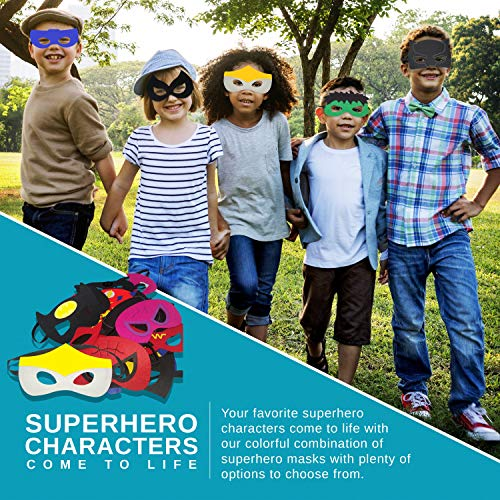 Ketakids 30 piece superhero masks for kids birthday parties